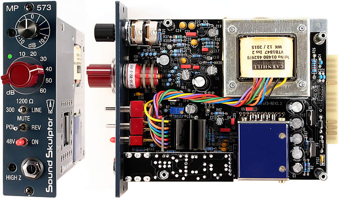MP573 Microphone preamplifier for the '500' Lunchbox - Kit