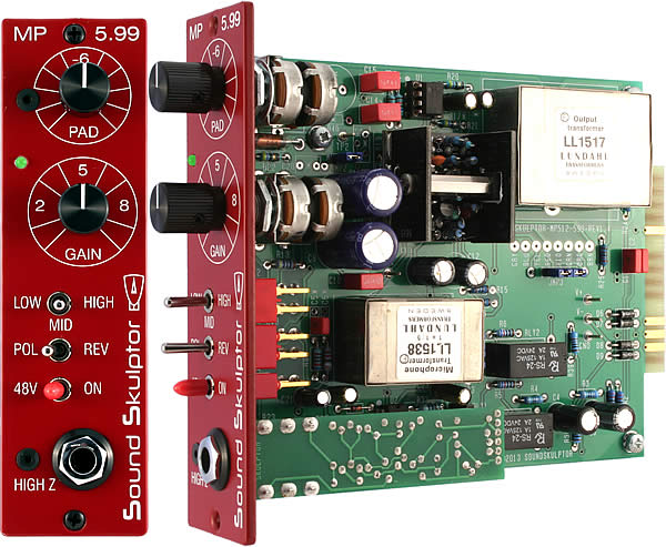MP599 Microphone preamplifier for the '500' Lunchbox - Kit